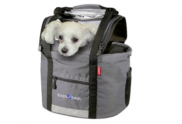 Klickfix Pet Basket With Hood For Handlebar Adapter Doggy