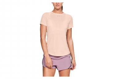 Under Armour Qualifier HexDelta Women Short Sleeves Jersey Pink
