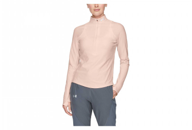 Under Armour Qualifier Women Half Zip Long Sleeves Jersey Pink
