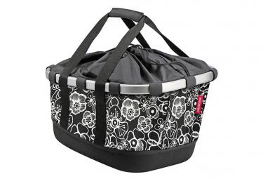 Klickfix Side bag BIKEBASKET GT pour Racktime Fleurs noires