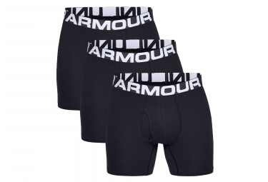 Lot de 3 Boxers Under Armour Charged Cotton 15 cm Boxerjock Noir
