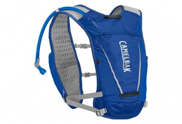 Camelbak Backpack Circuit Vest + Water Bottle 1.5L Blue Grey