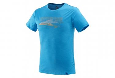T shirt manches courtes millet sevan wool bleu l