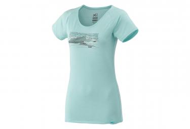 T shirt manches courtes femme millet sevan wool bleu l