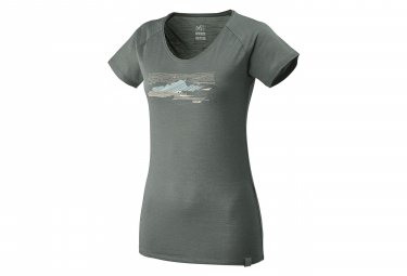 Millet Sevan Wool Women's Short Sleeves T-Shirt Castle Grey