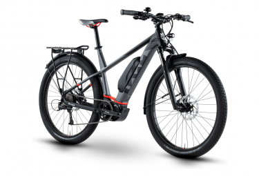 Bicicleta Ciudad Eléctrica Husqvarna Gran Tourer GT2 27.5'' Plus Gris / Noir