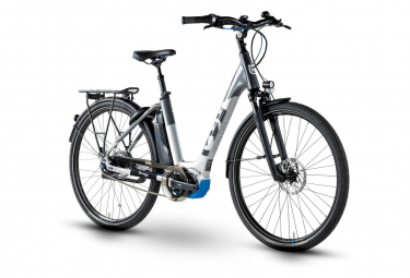 Vélo de Ville Électrique Husqvarna Gran City GC3 Shimano Nexus 5V 500 Blanc / Bleu 2019