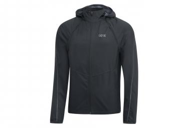 GORE R3 WINDSTOPPER chaqueta con cremallera negra