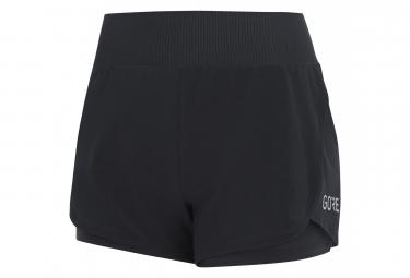 Short 2-in-1 Femme GORE® R7 Noir