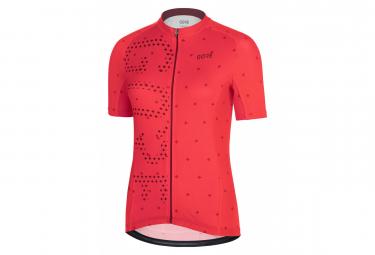 Jersey para mujer GORE C3 Hibiscus Rosa Rojo Castaño
