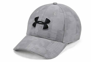 Under Armour Printed Blitzing 3.0 Stretch Fit Cap Grey