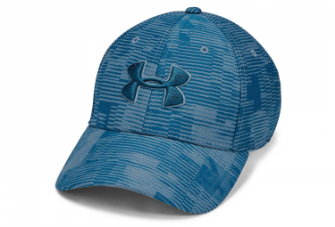 Under Armour Printed Blitzing 3.0 Stretch Fit Cap Blue Grey