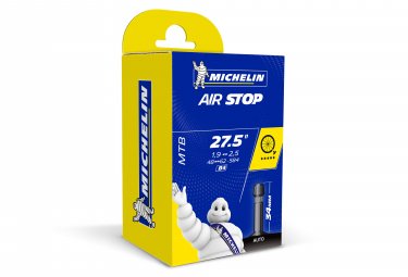 MICHELIN Chambre à air VTT B4 AIRSTOP 27.5x1.90/2.50 Valve Schrader 34mm