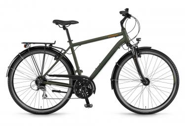 City Bike Winora Domingo 24 28'' Shimano Acera 3 x 8V 2019 Olive Green/Black
