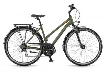 City Bike Winora Domingo 24 Women 28'' Shimano Acera 3 x 8V 2019 Olive Green/Black