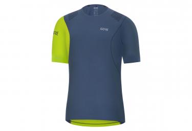 Maillot Manches Courtes GORE® R7 Shirt Bleu Vert