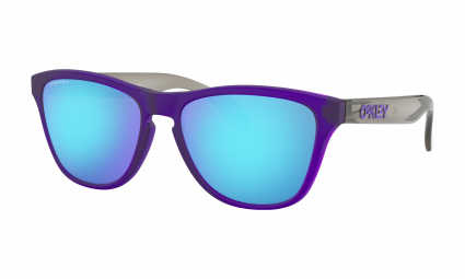 Lunettes Enfant Oakley Frogskins XS / Matte Translucent Crystal Purple / Prizm Sapphire / Ref.OJ9006-1153