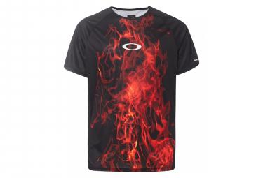 Oakley MTB SS Jersey Flames Black / Red