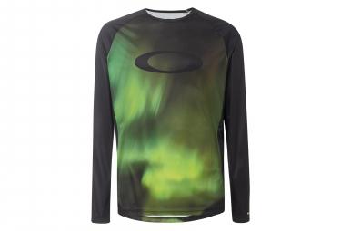 Oakley MTB LS Jersey Aurora Borealis Black / Green