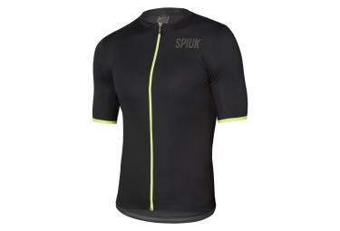Spiuk Anatomic Short Sleeves Jersey Black Neon Yellow