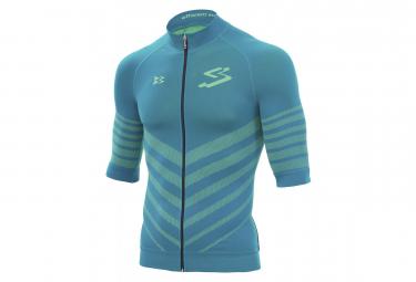 Spiuk Biomechanic Short Sleeves Jersey Blue Petrol Neon Yellow