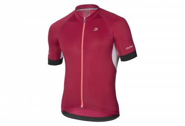 Spiuk Helios Short Sleeves Jersey Maroon Red