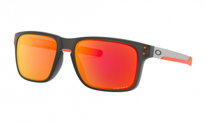 Oakley Sunglasses Holbrook Mix Ember Collection / Matte Grey Smoke / Prizm Ruby / Ref. OO9384-1557