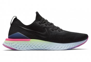 Zapatillas Nike Epic React Flyknit 2 para Hombre Negro / Rosa