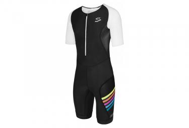 Spiuk Universal Short Sleeves Trisuit Black White Multicolor