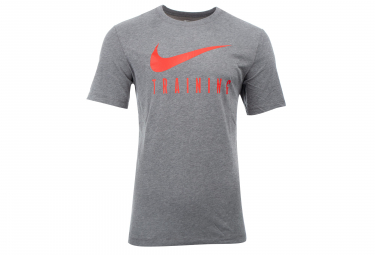 Nike Short Sleeves Jersey Dri-FIT Training Gris Rojo Hombres