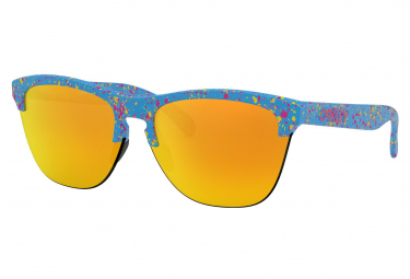Oakley Frogskins Lite Splatterfade Collection Splatter Sky Blue / Fire Iridium / Ref. OO9374-1463