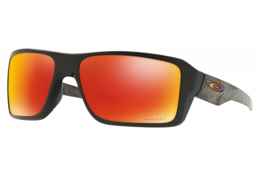 Oakley Sunglasses Double Edge Prizmatic Collection / Matte Black Prizmatic / Prizm Ruby Polarized / Ref. OO9380-2366
