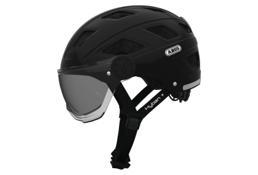 Abus Hyban+ Helmet Black With Smoke Visor