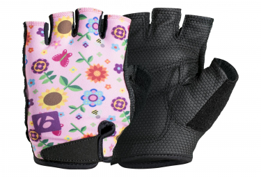 Bontrager Kids Gloves Pink Flowers
