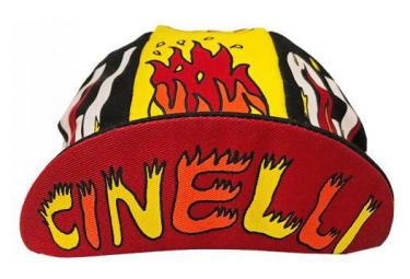 Casquette Cinelli Fire Ana / Rouge / Jaune