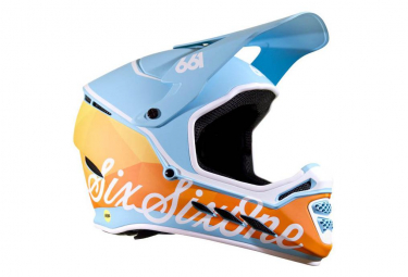 Casque Intégral 661 SixSixOne Reset Mips Geo Blorange / Bleu Orange