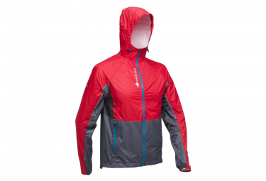Veste Impermeable Raidlight Top Extreme MP+ Rouge Gris Homme