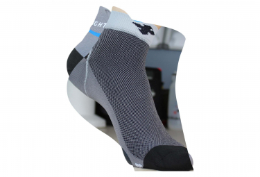 Image of Chaussettes raidlight r light gris noir 45 47