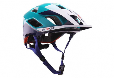 Image of Casque 661 sixsixone evo am helmet orange bleu m l 57 59 cm