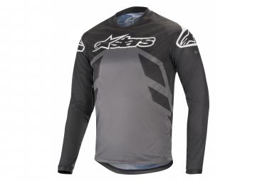 Alpinestars Racer V2 Longs Sleaves Jersey Black Anthracite Gray