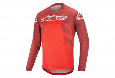 Alpinestars Racer V2 Longs Sleaves Jersey Burgundy Bright Red White