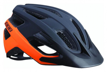 Casque kite noir mat orange l