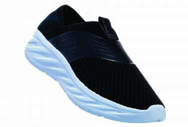 Hoka Ora Recovery Shoe Black White Women