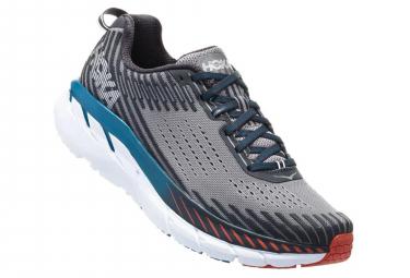 Hoka Running Shoes Clifton 5 Grey Blue Red