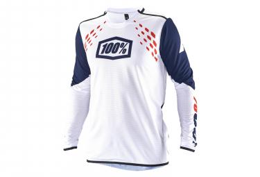 100% R-Core X Longsleeve Jersey White