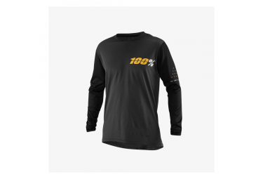 100% Ridecamp Longsleeve Jersey Charcoal