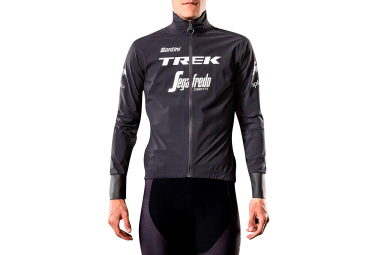 Trek by Santini Packable Waterproof Cycling Jacket Team Trek-Segafredo Black 2019