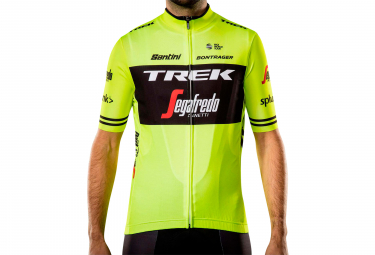 Short Sleeves Jersey Trek by Santini Team Trek-Segafredo Replica Yellow