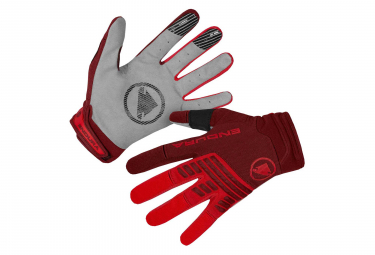 Gants Longs Endura SingleTrack LTD Rouge