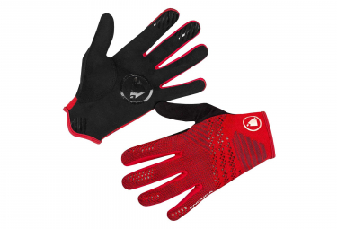 Endura SingleTrack LiteKnit Gloves - Rouge / Rouge